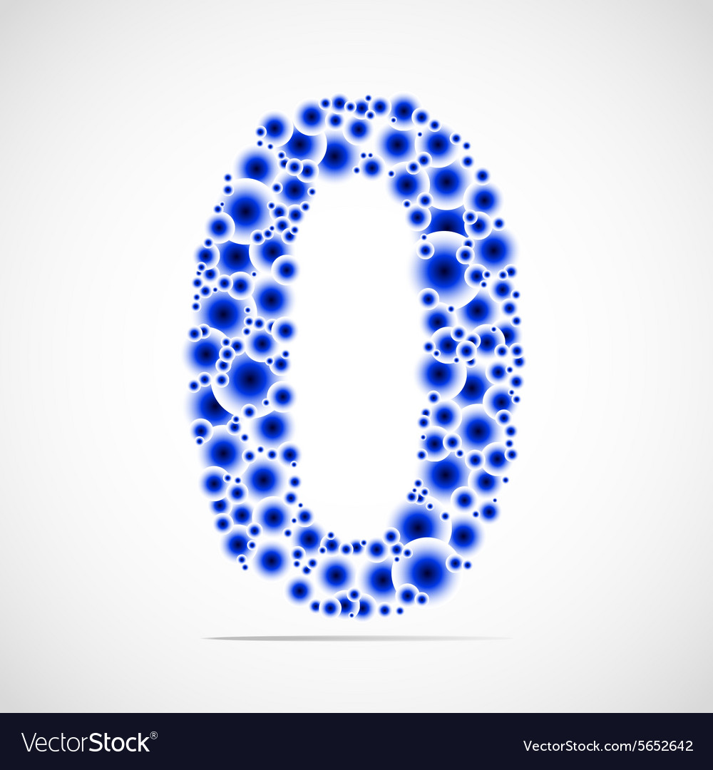 Number zero made from balls vector