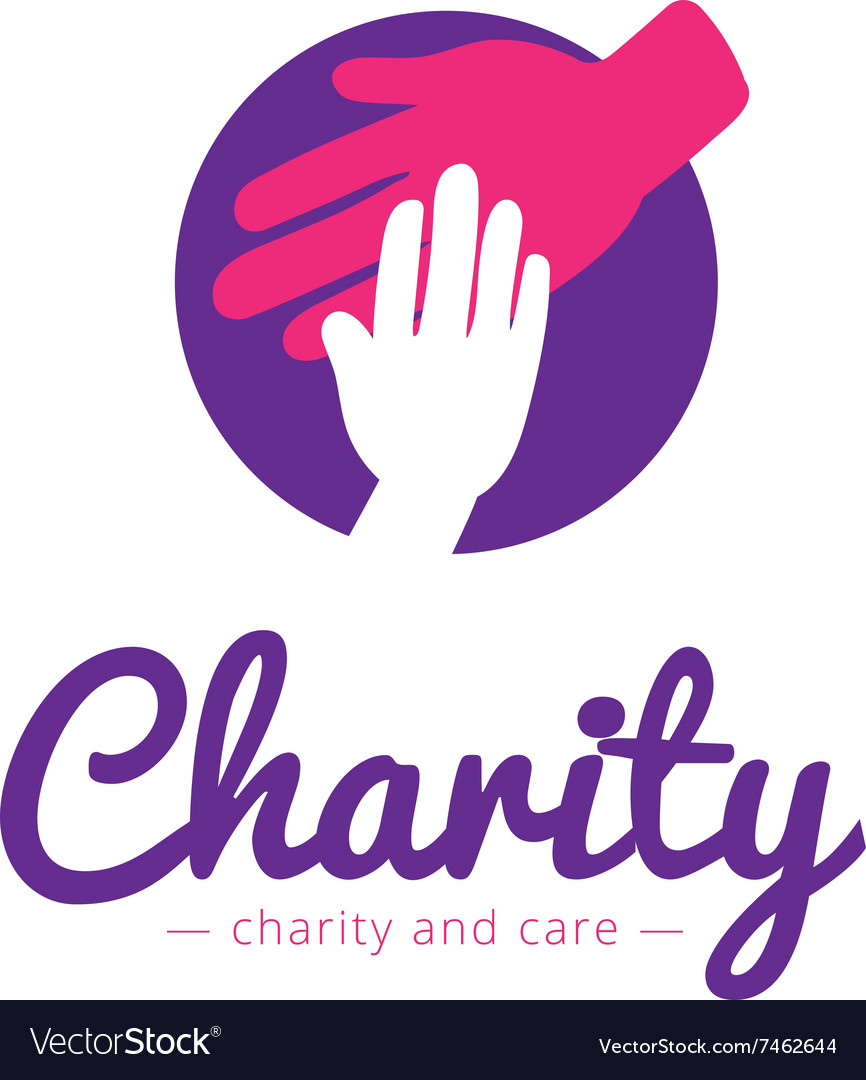 Clean charity center logo hospital vector