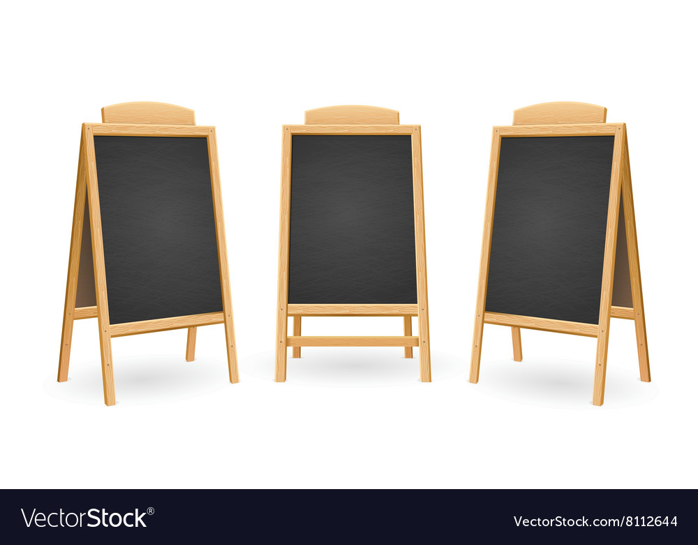 Menu black board isolated set vector