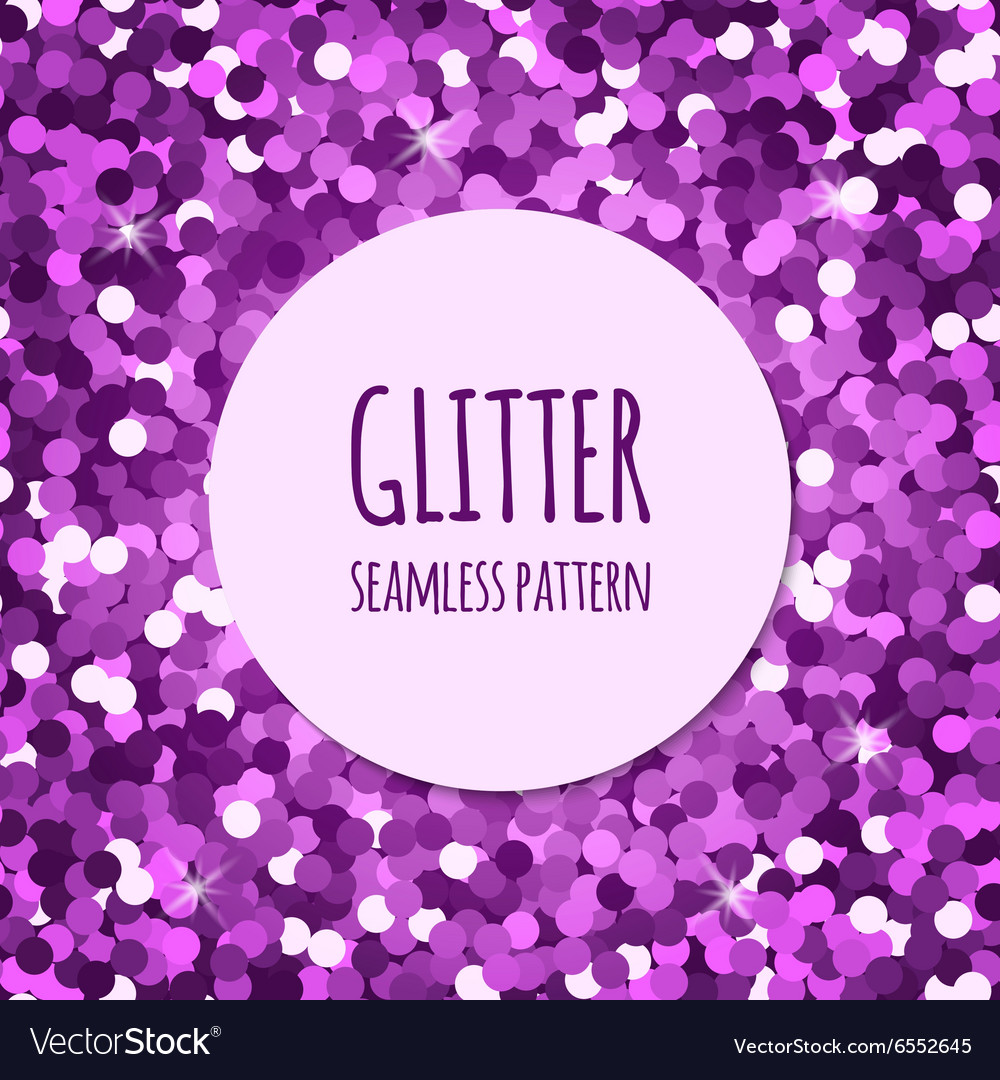 Violet glitter seamless pattern vector