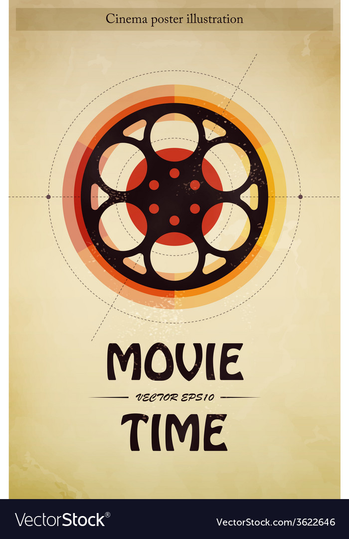 Cinema poster vector