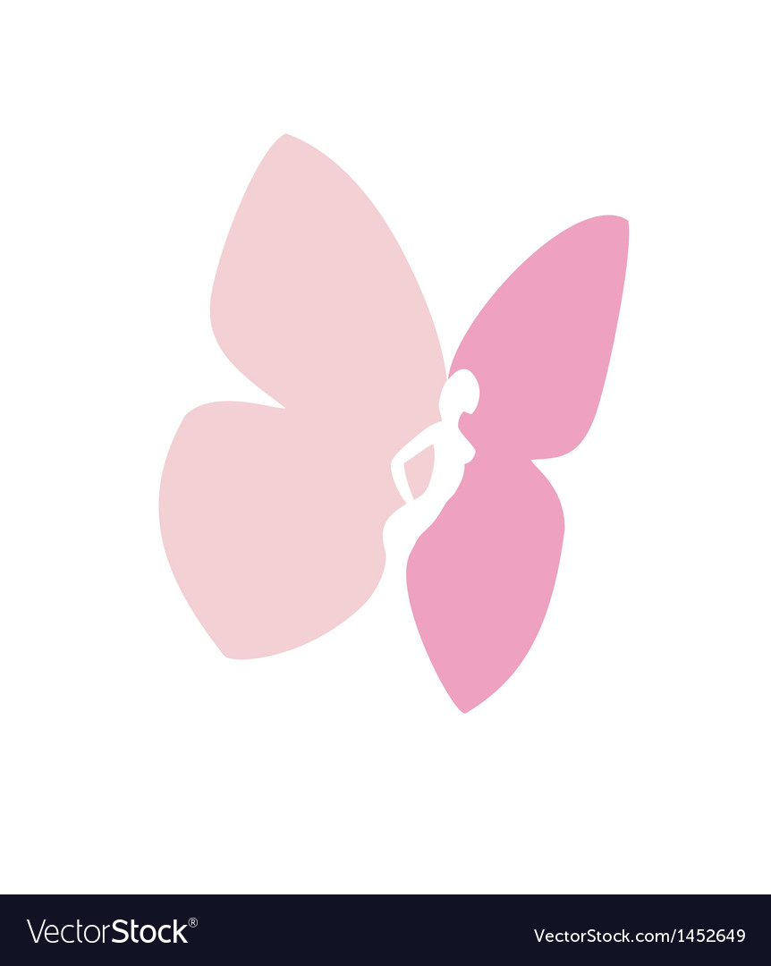 Woman with butterfly wings isolated vector