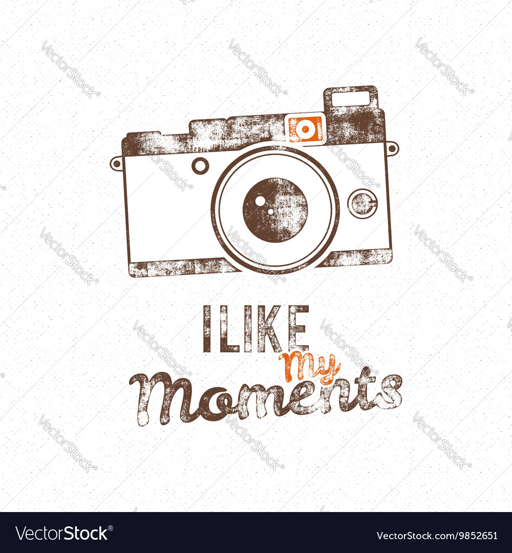 Retro poster with old camera icon and text vector