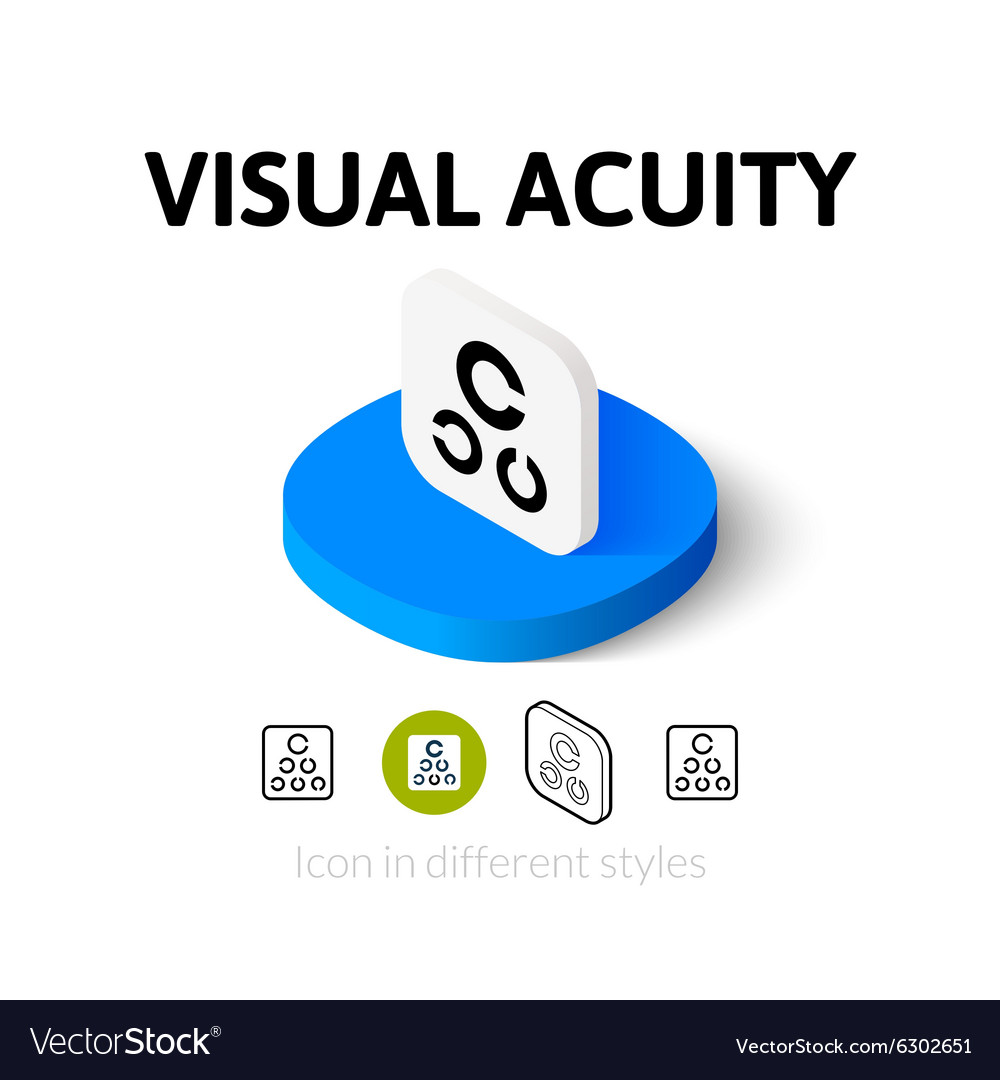 Visual acuity icon in different style vector