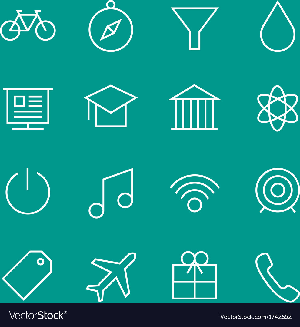 Set of web line icons 2 vector