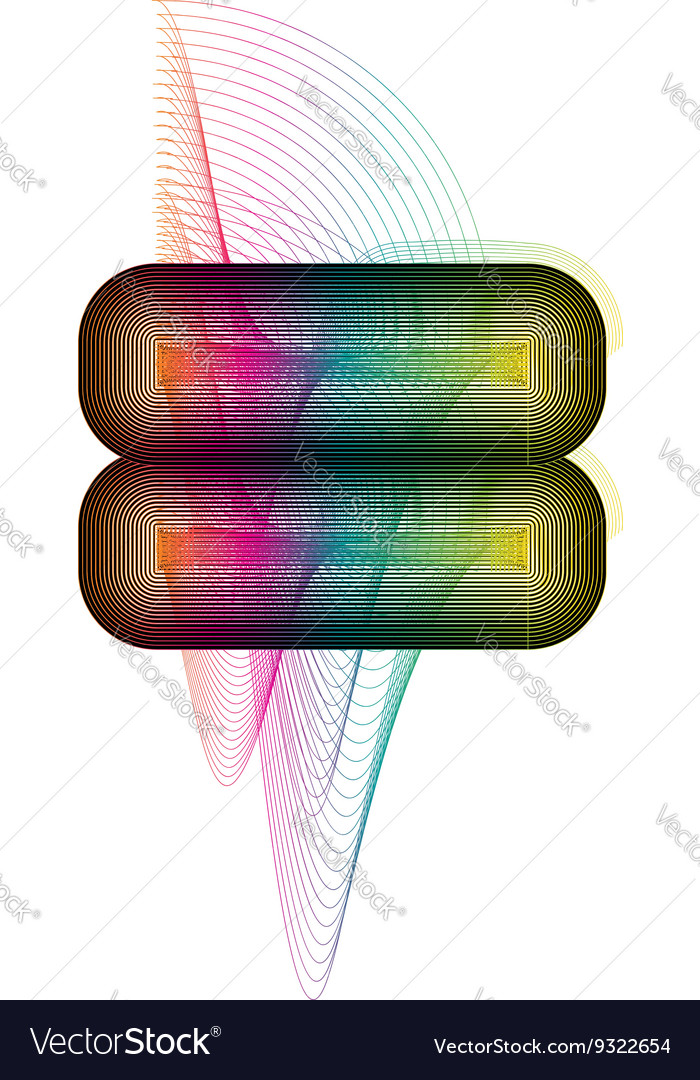 Abstract colorful symbol vector