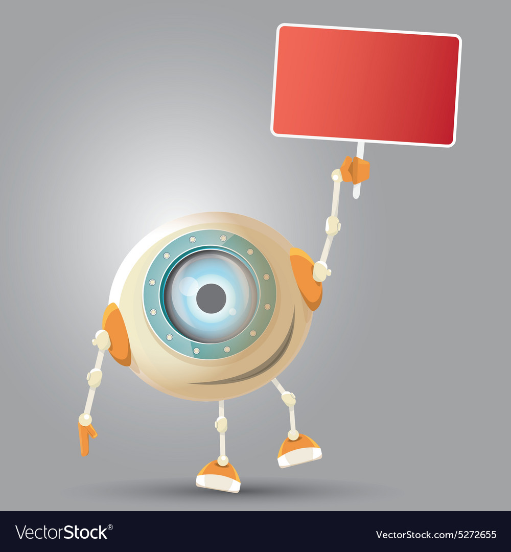 Cartoon character cute robot vector