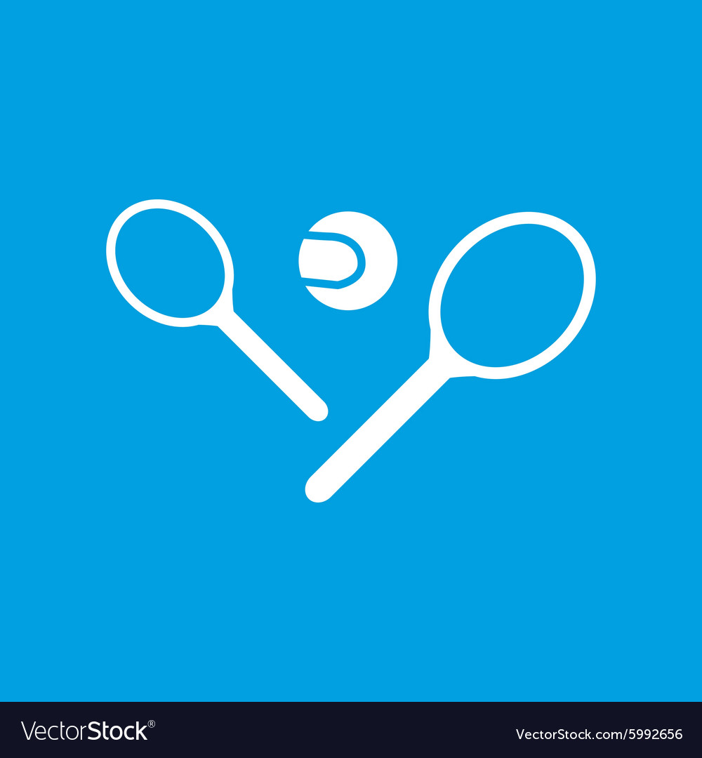 Big tennis icon simple vector