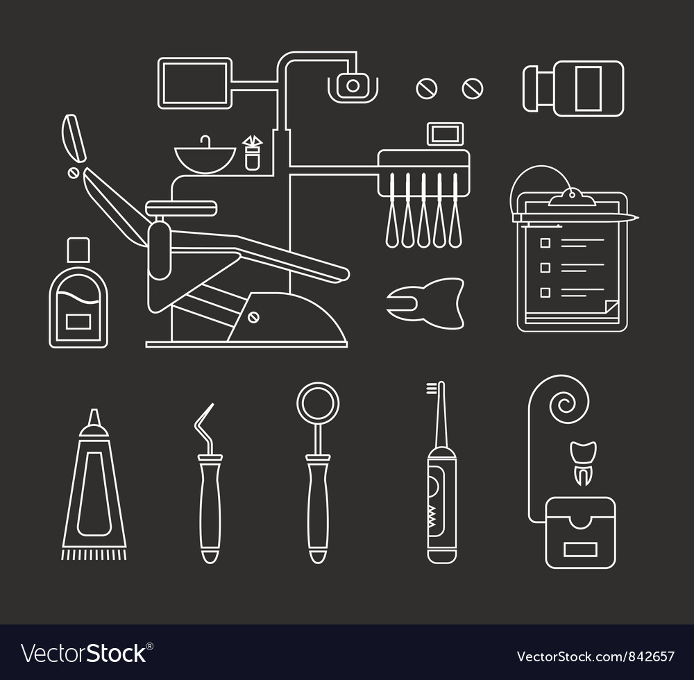 Dentist icon vector