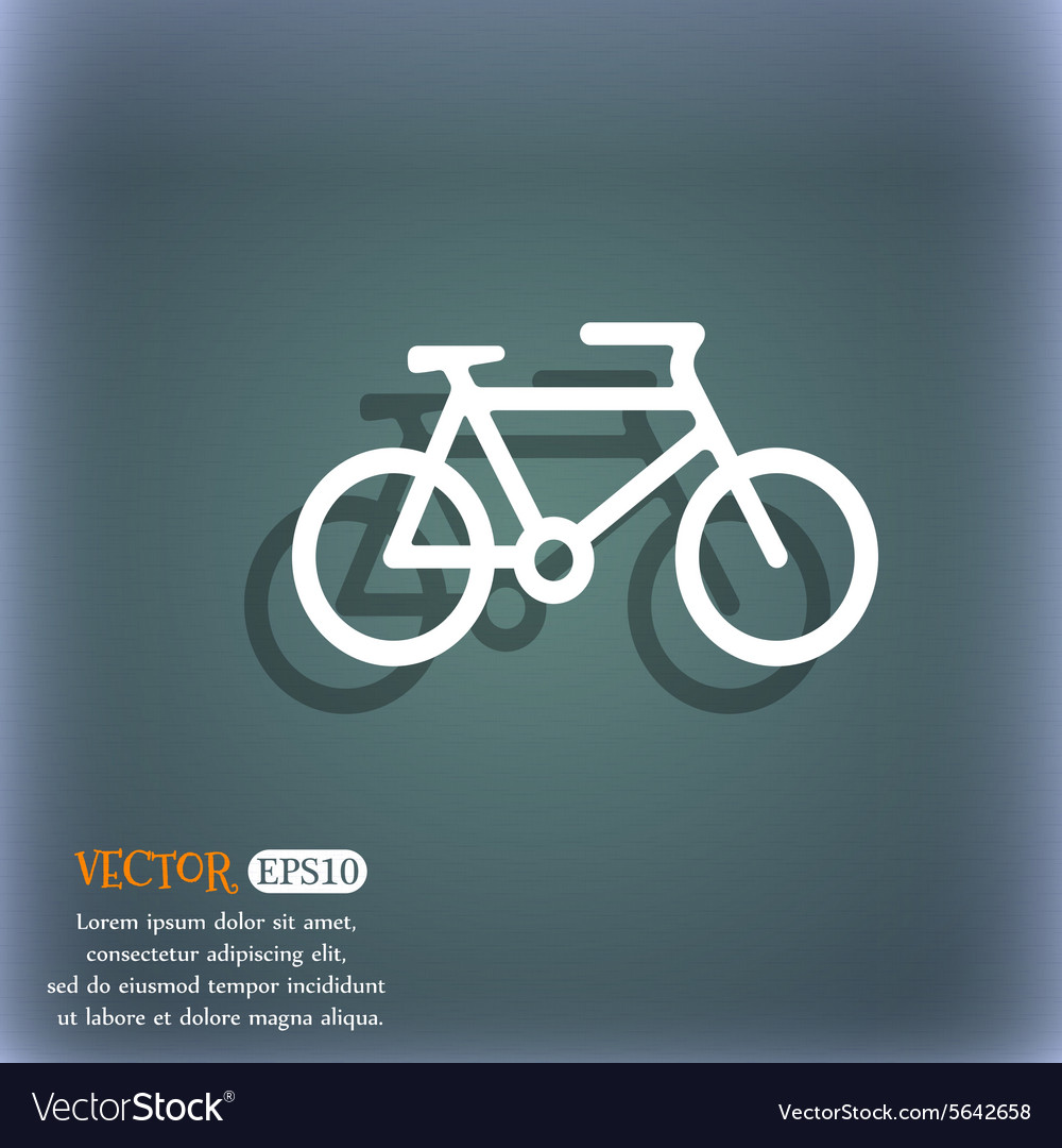 Bike icon symbol on the bluegreen abstract vector