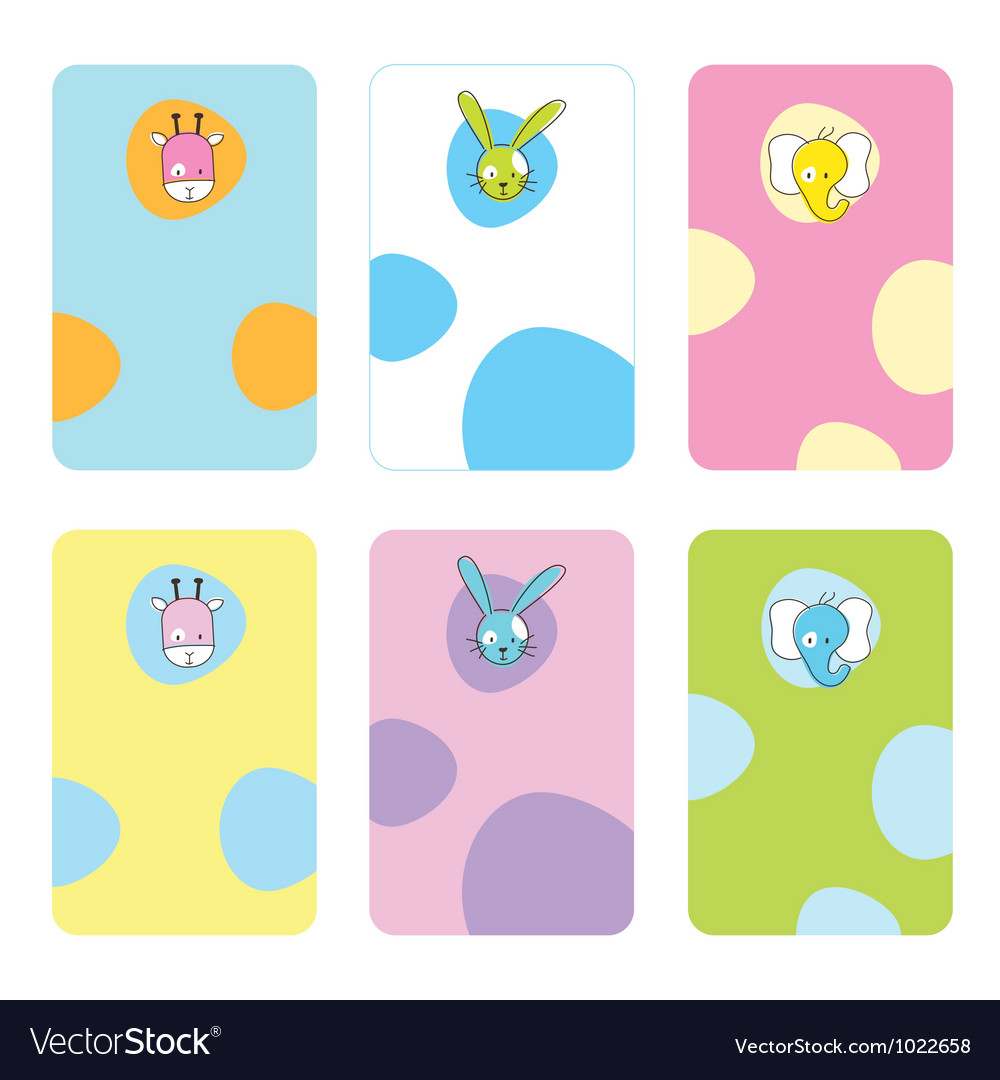 Cute birthday gift tags vector