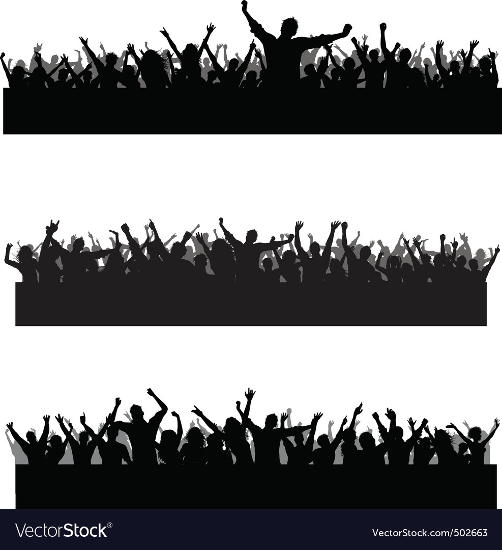 Crowd scenes vector