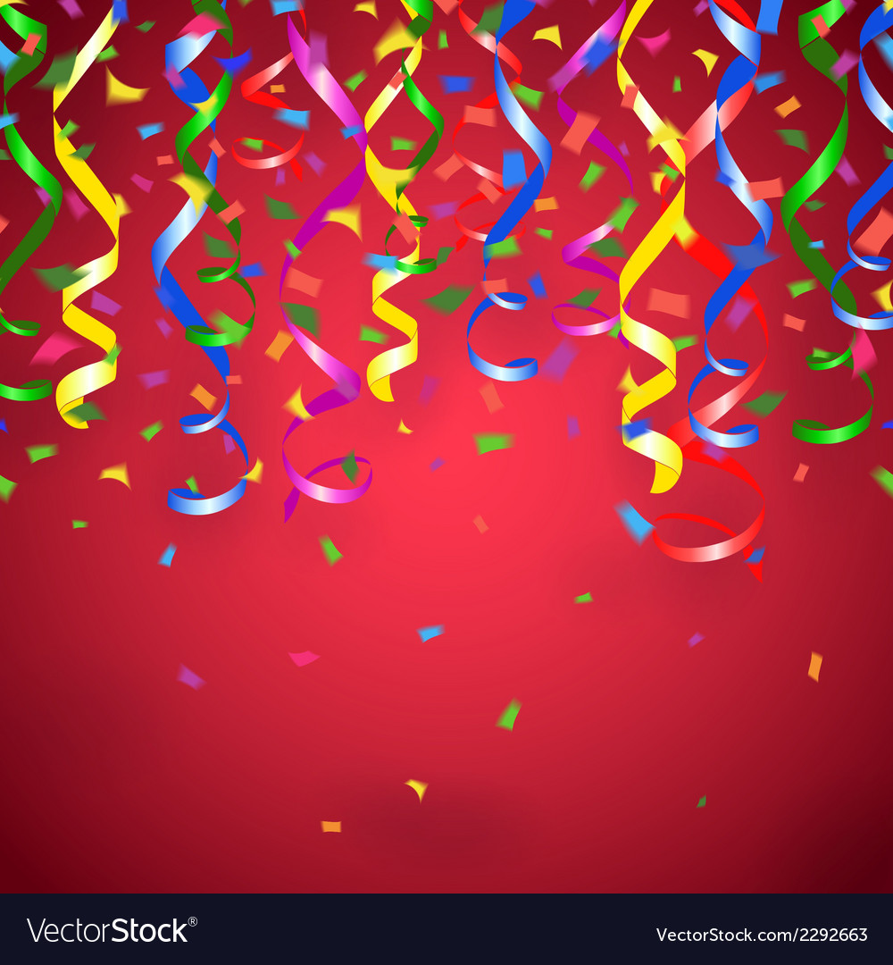 Red party background vector