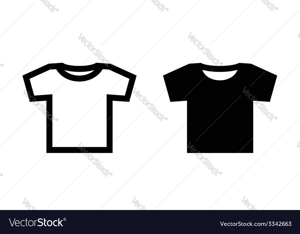 Tshirt icon vector