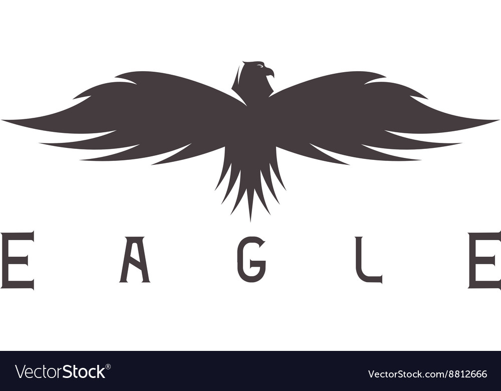 Abstract design template of bird eagle vector