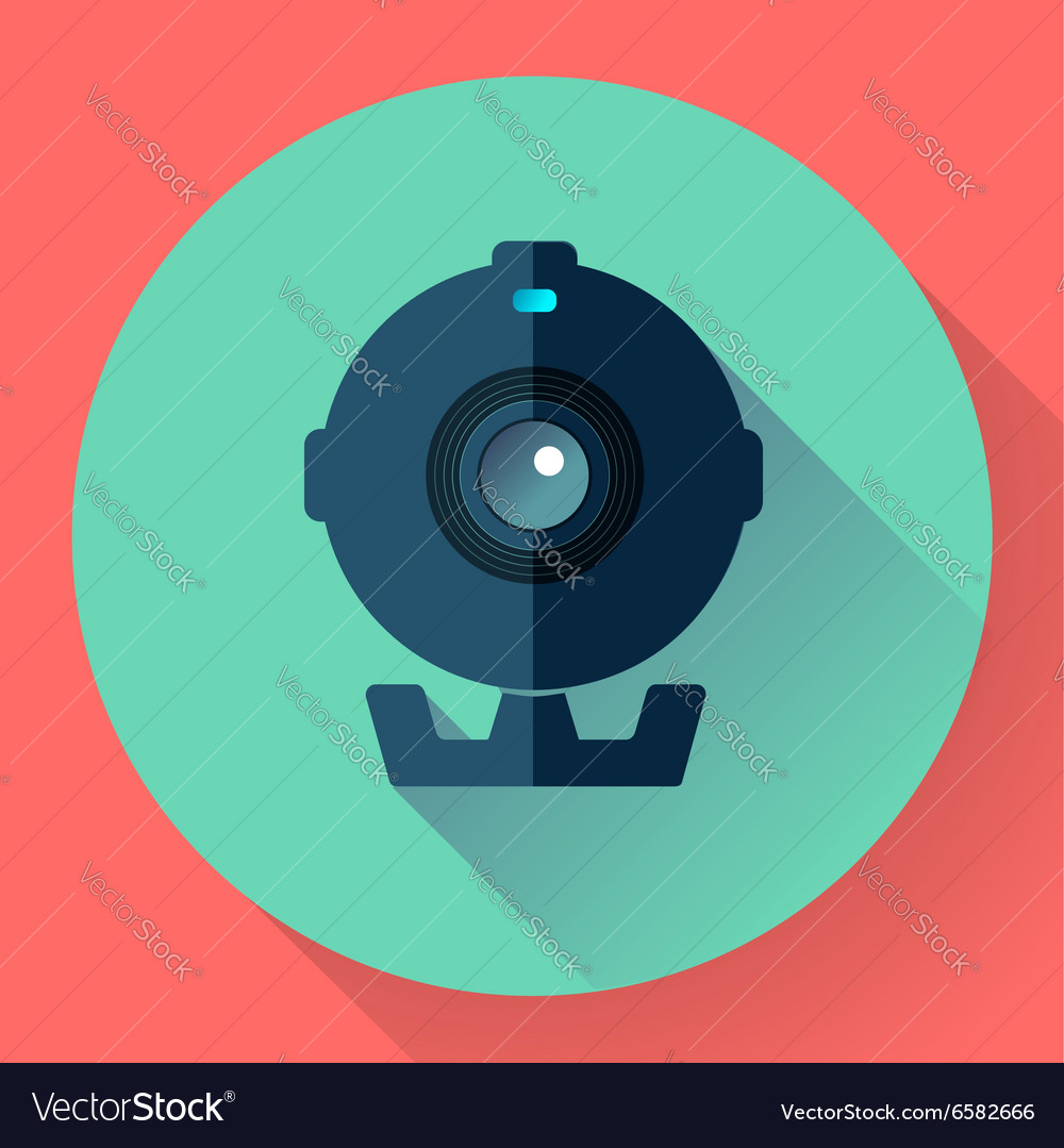 Flat webcam icon  simple vector