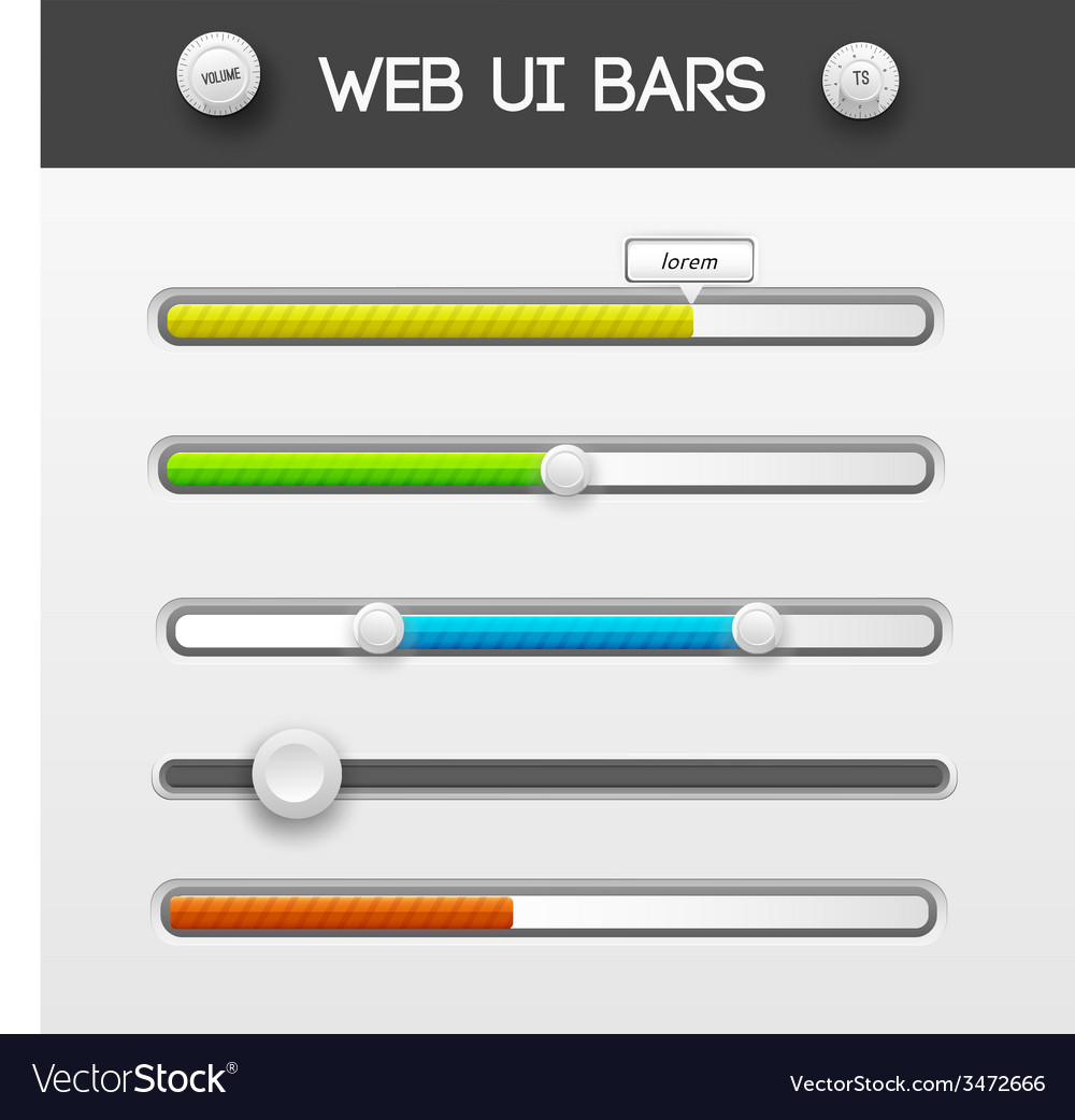 Web interface ui elements vector