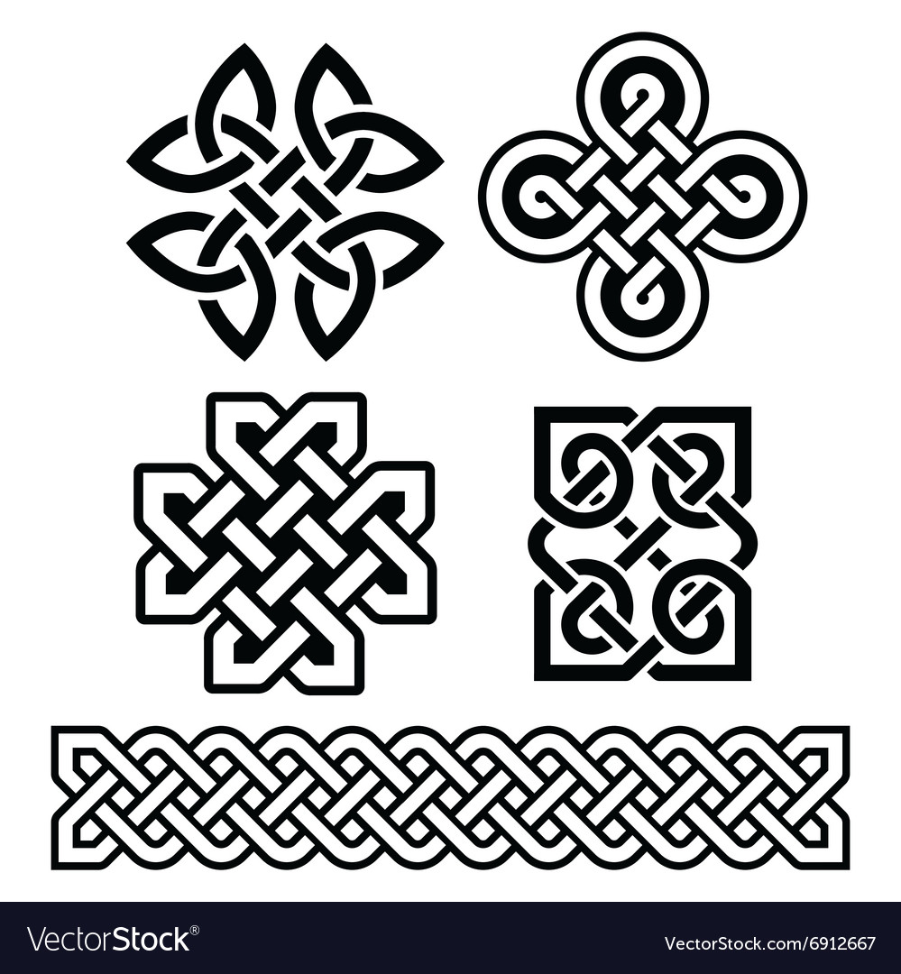 Celtic irish patterns and braids  vector