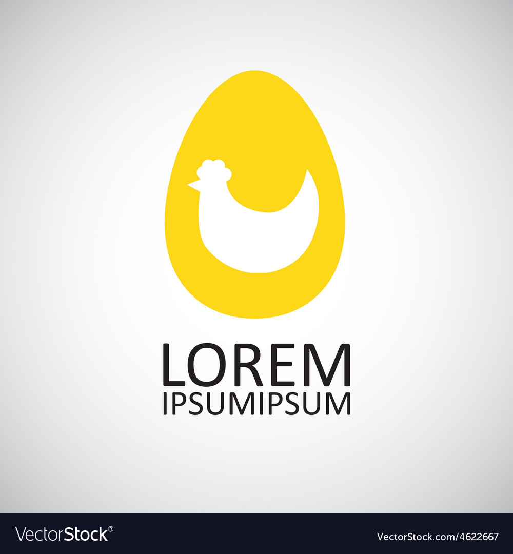 Chicken in the egg symbol vector
