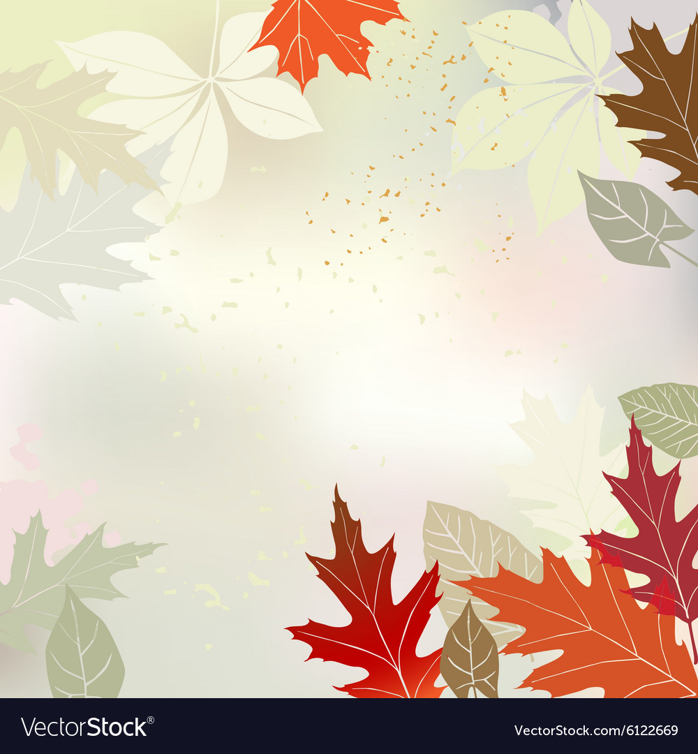 Autumn background multicolored leaves vector