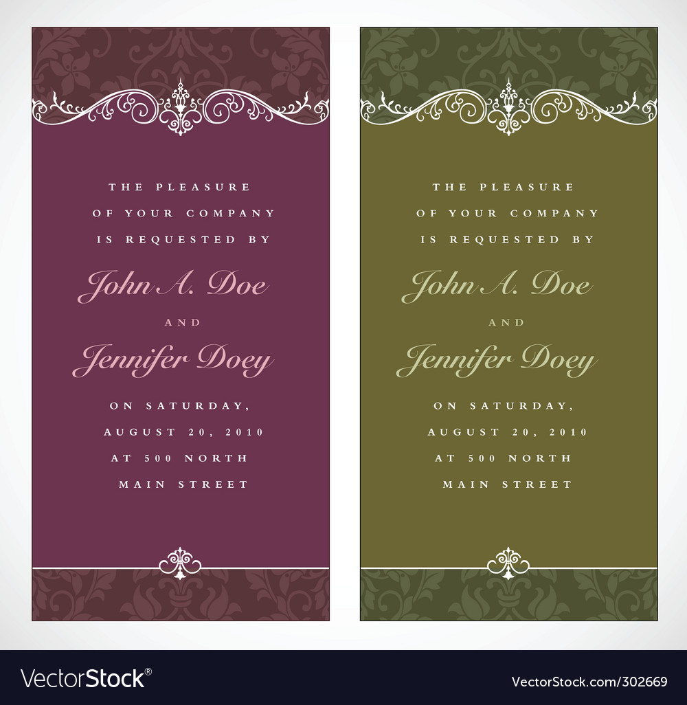 Tall ornate frames vector