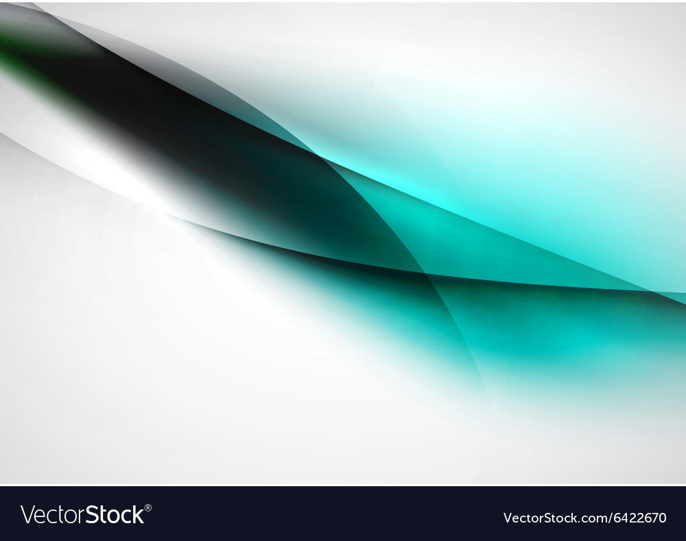 Blurred abstract blue lines in light space vector
