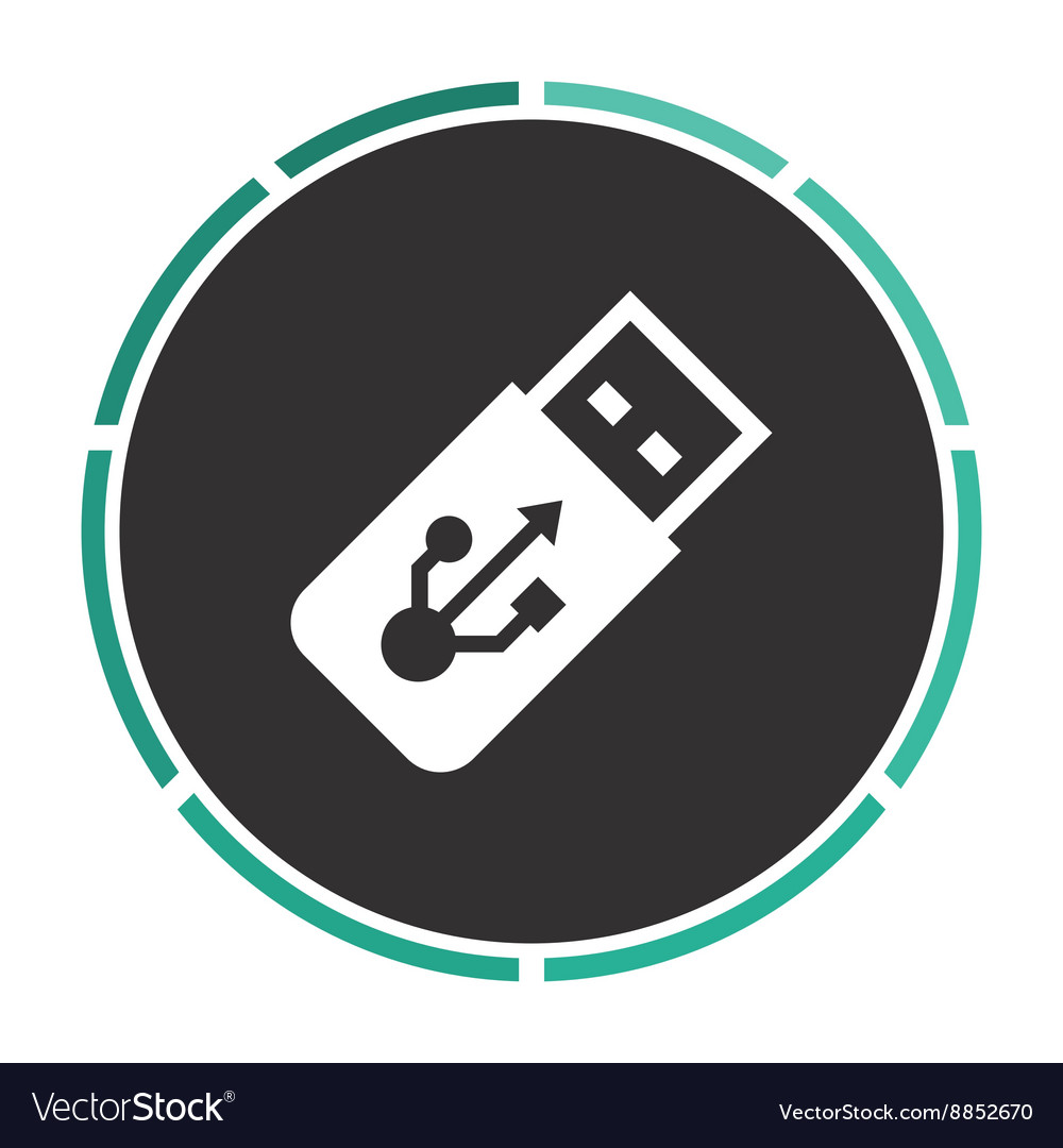 Usb flash drive computer symbol vector