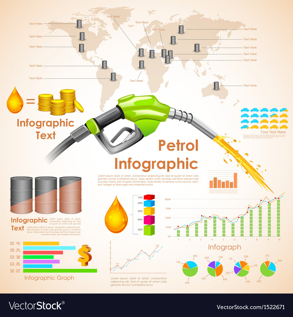 Petroleum infographic vector
