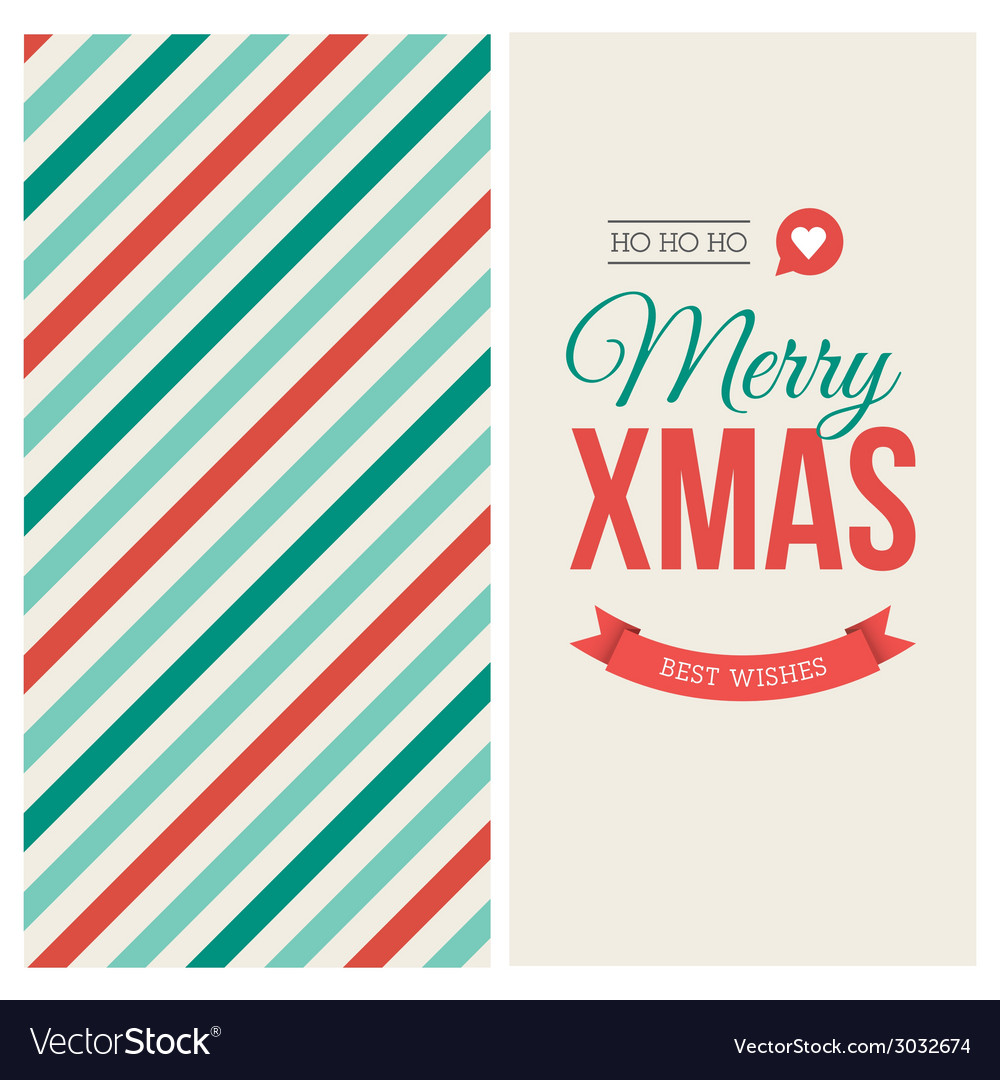 Christmas card pattern vector