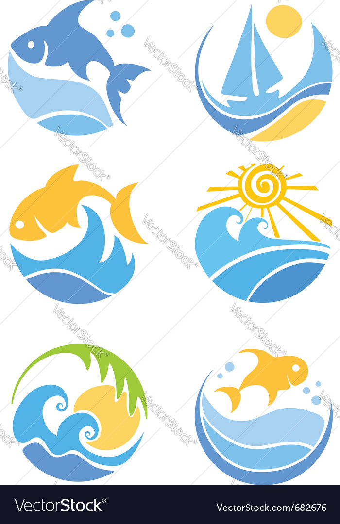 Fish and sea vector