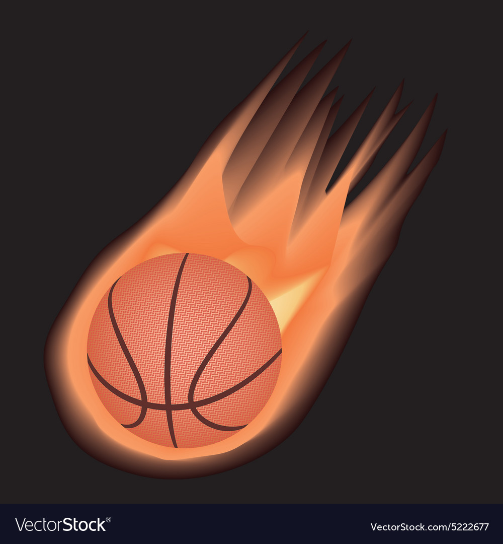 Basketballfire vector
