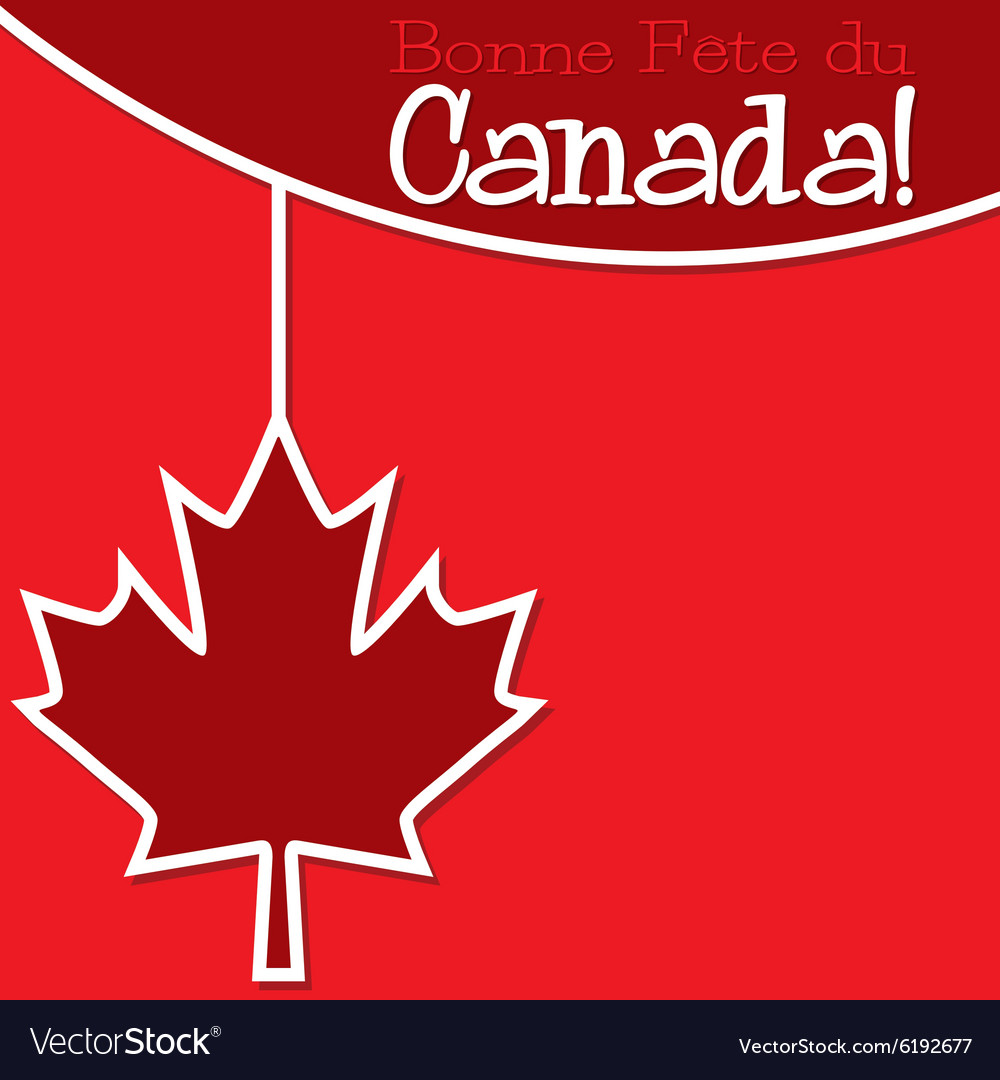 Canada day string card in format vector