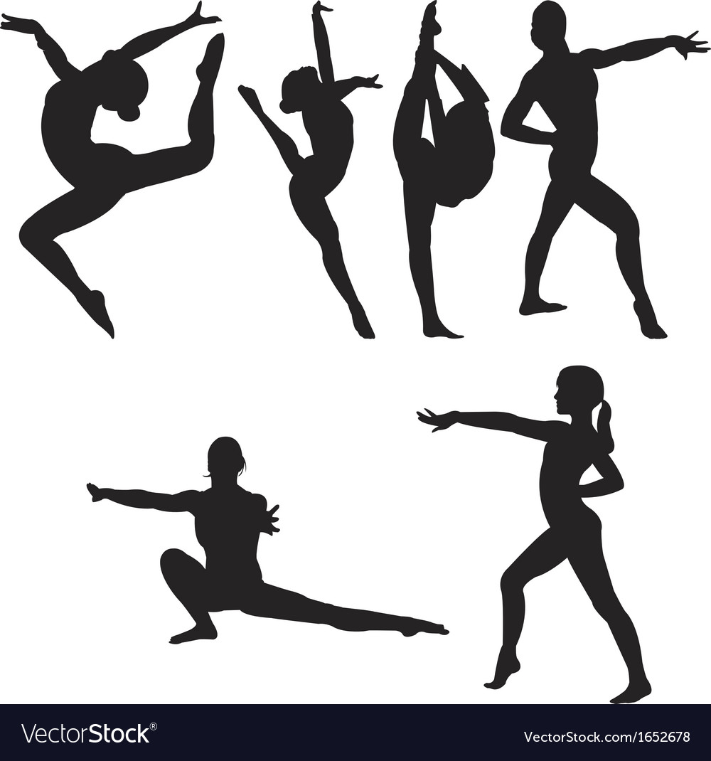 Gymnastics set vector