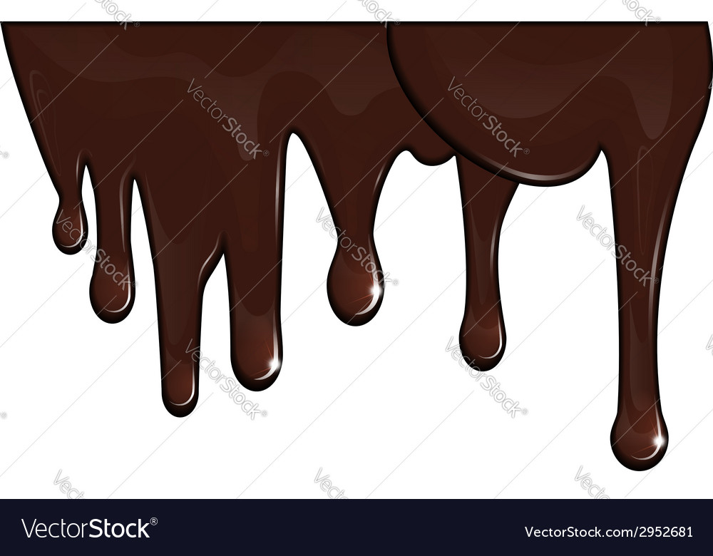 Chocolate drips vector