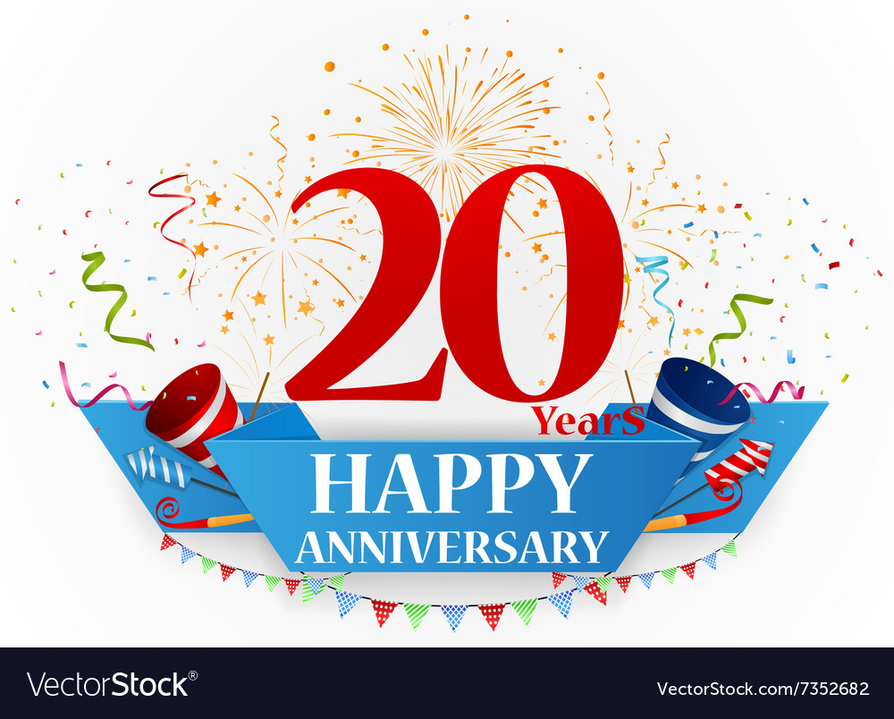 Happy anniversary celebration design vector