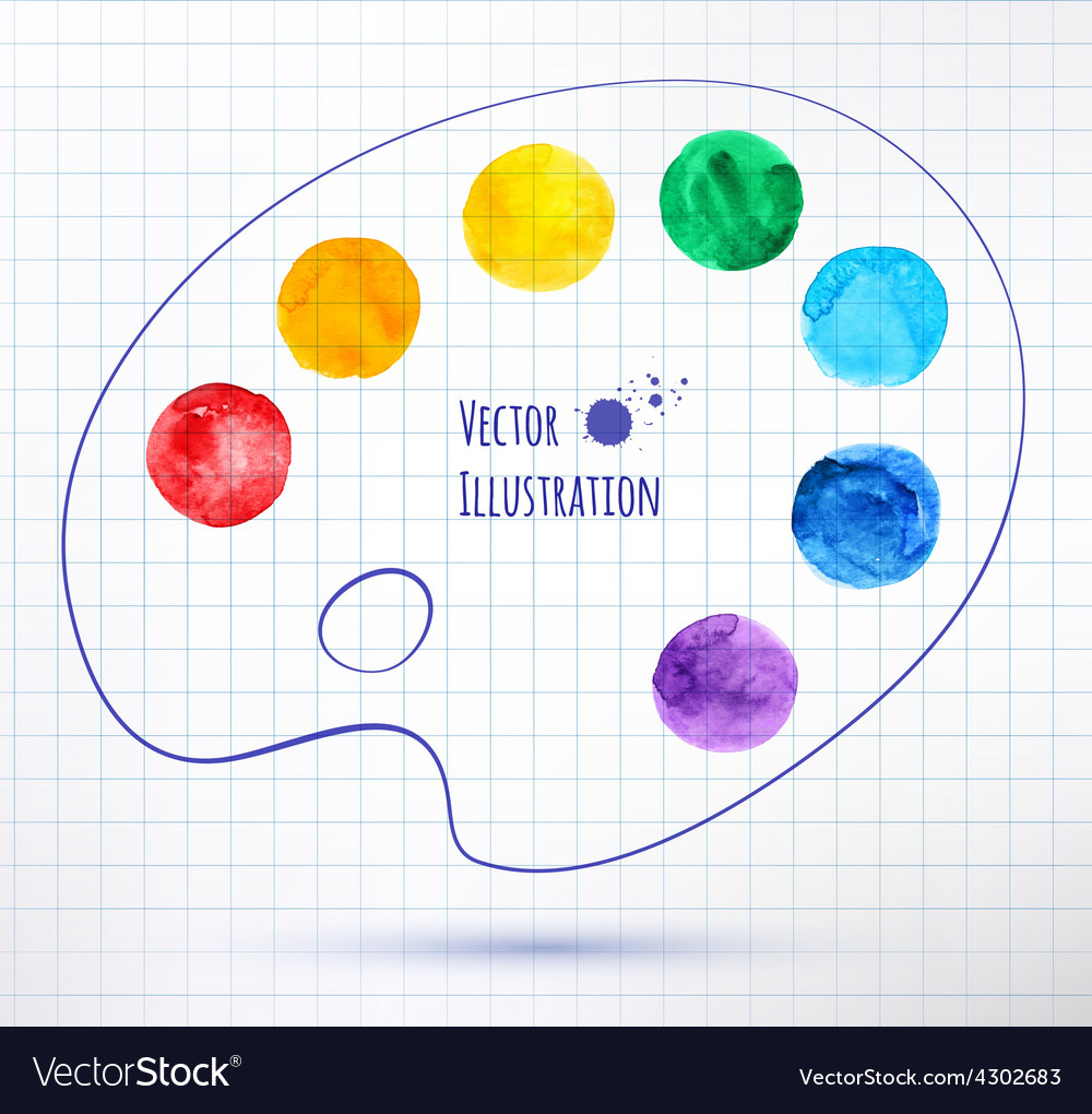 Paint palette vector