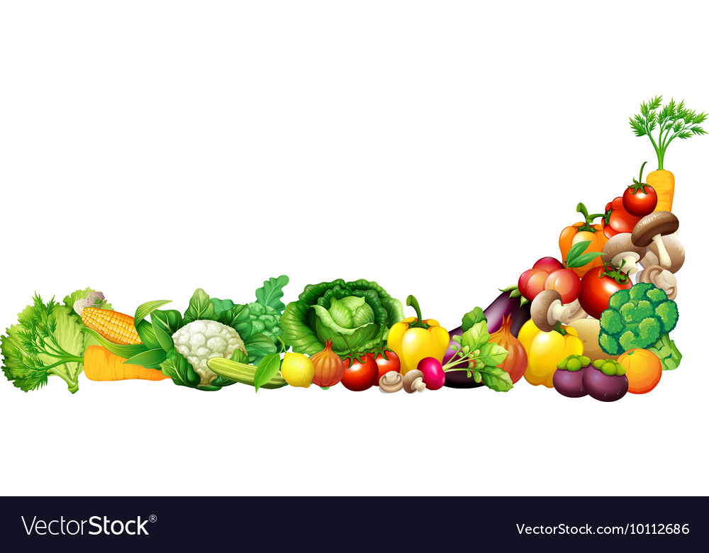 Paper design with fresh vegetables and fruits vector