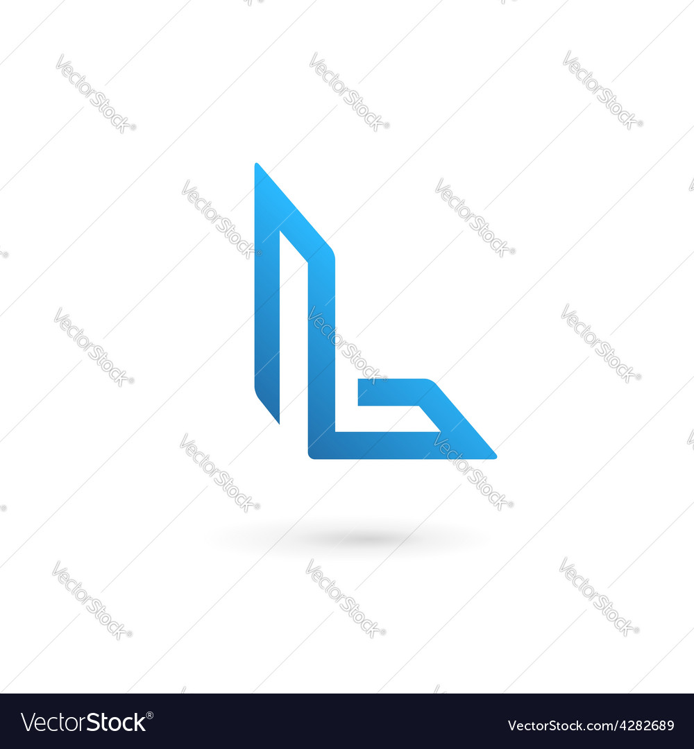 Letter l logo icon design template elements vector