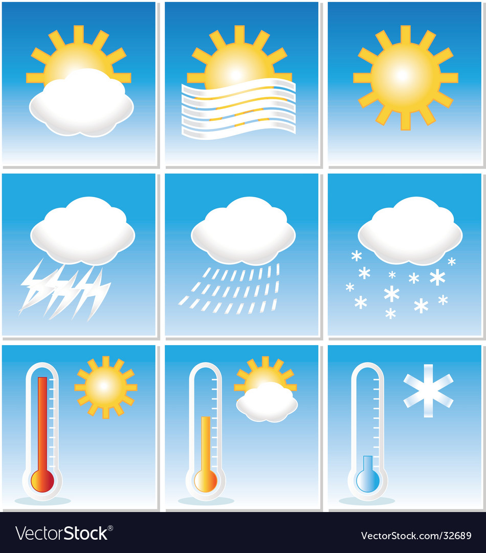 Weather icons metro vector