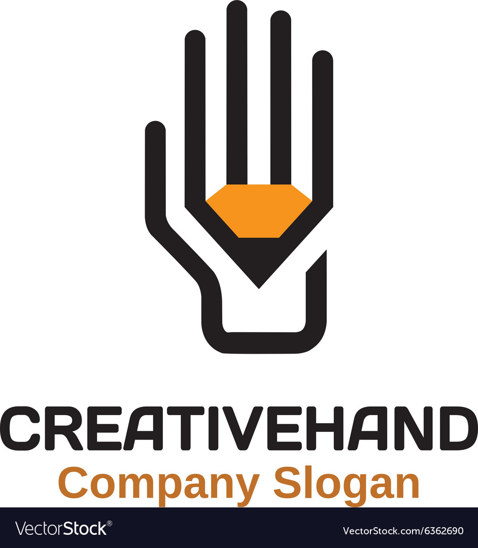 Creative hand design vector