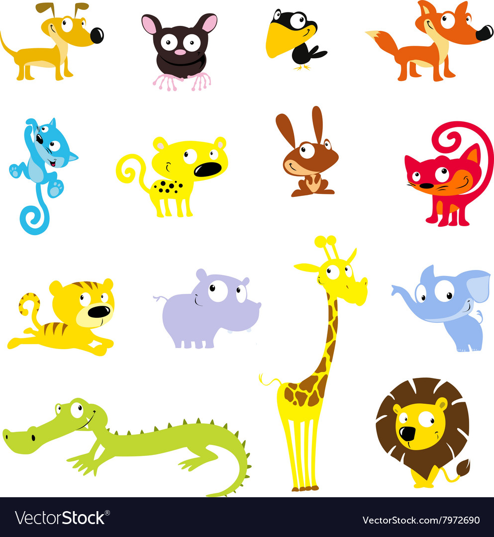 Simple cute animal symbol  icon vector