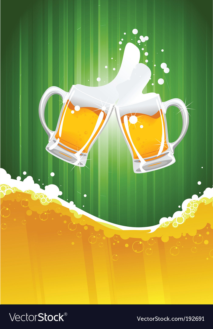 Beer splashing vector