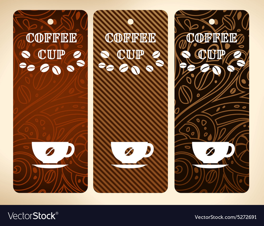 Coffee cup banners vector