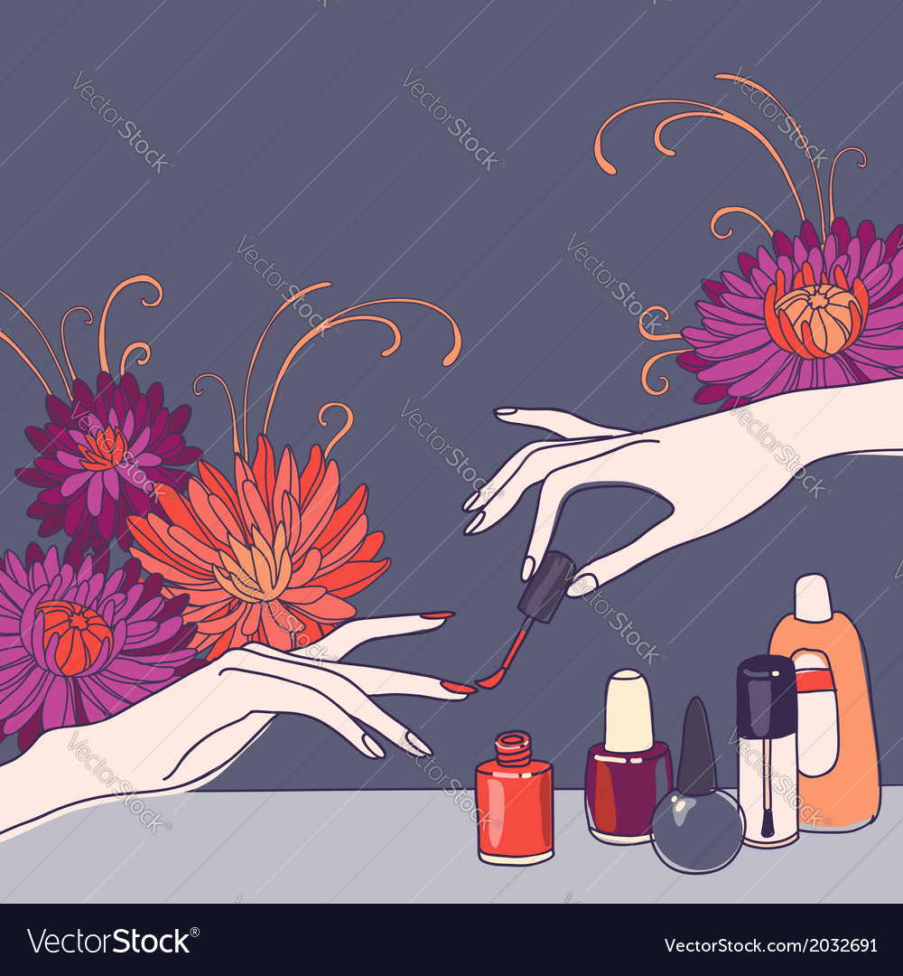 Nail salon vector