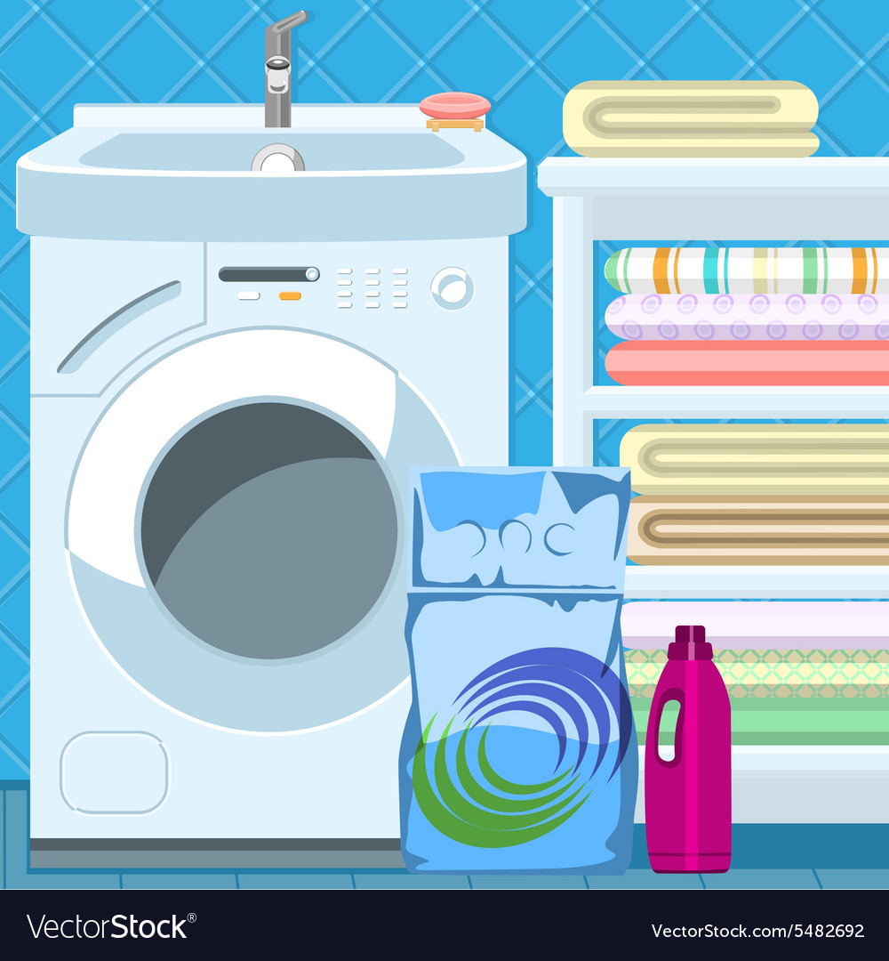 Bathroom items vector
