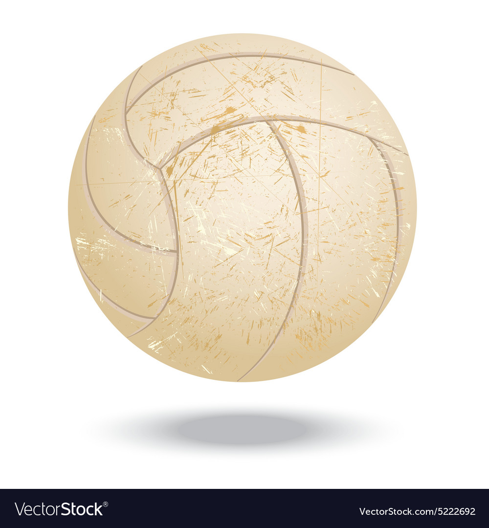 Volleyballvintage vector