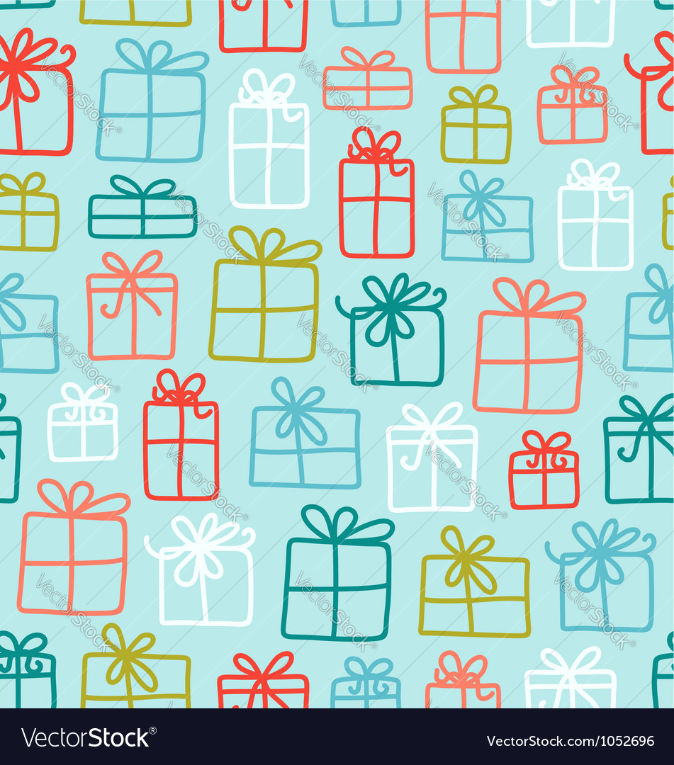 Gift boxes pattern vector