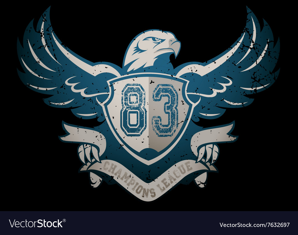 Champions league banner with an eagle vector
