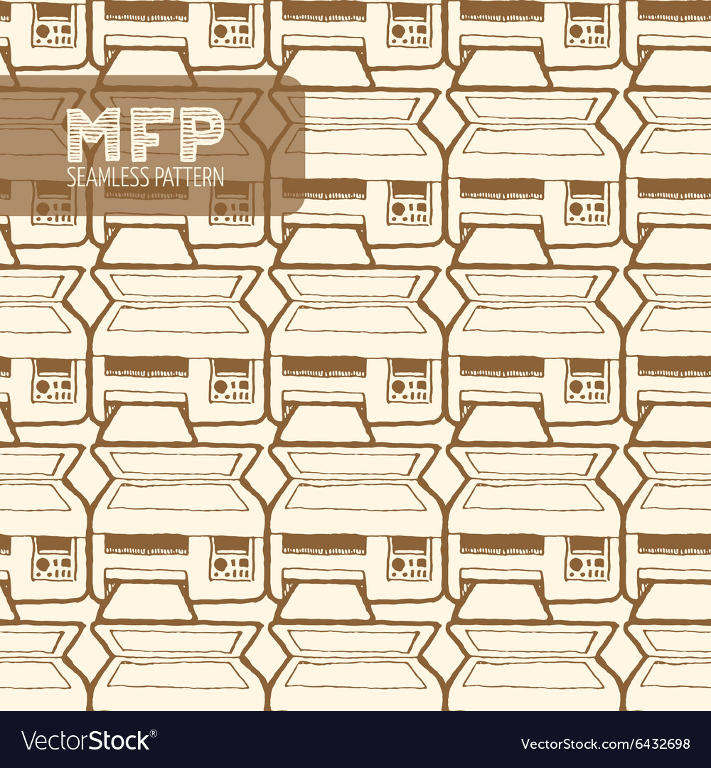 Mfp seamless pattern vector