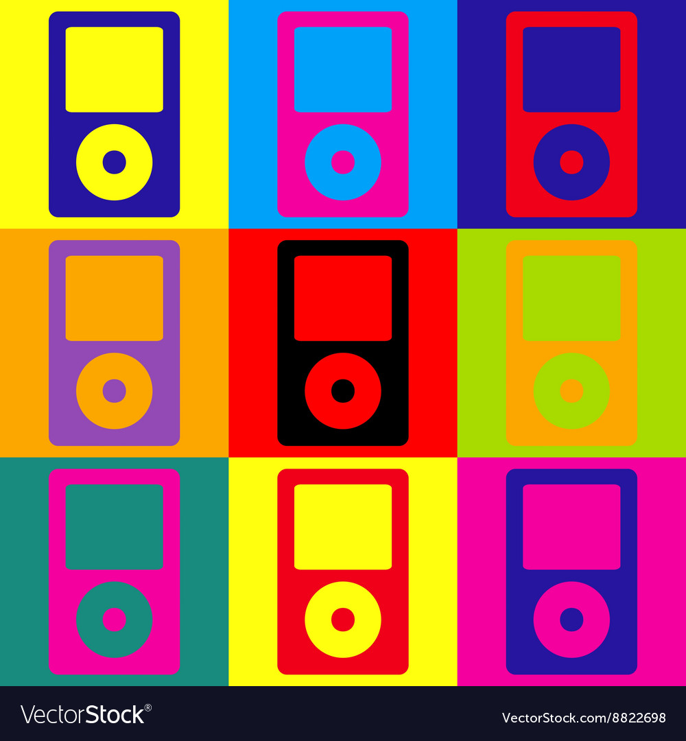 Portable music device vector